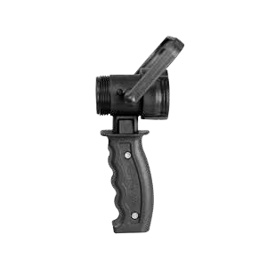 Pistol grip bale shut-off
