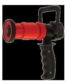 Fog/straight stream nozzle with d-handle pistol grip shut-offs