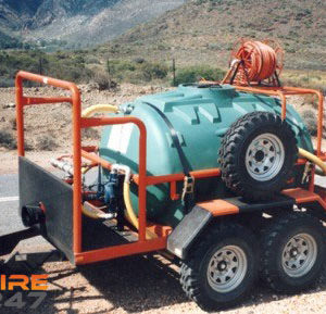 2500lt Off Road Fire Fighting Trailer